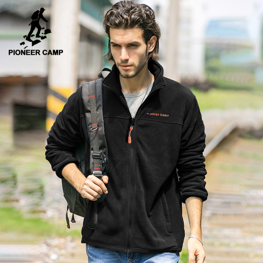 Pioneer Camp Brand US Size Warm Fleece Men Jacket Clothing Autumn Winter Zipper Sweatshirts Male High Quality 520500Y