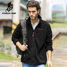 Pioneer Camp marka US rozmiar ciepły polar męska kurtka odzież jesień zimowy zamek błyskawiczny bluzy męskie wysokiej jakości 520500Y