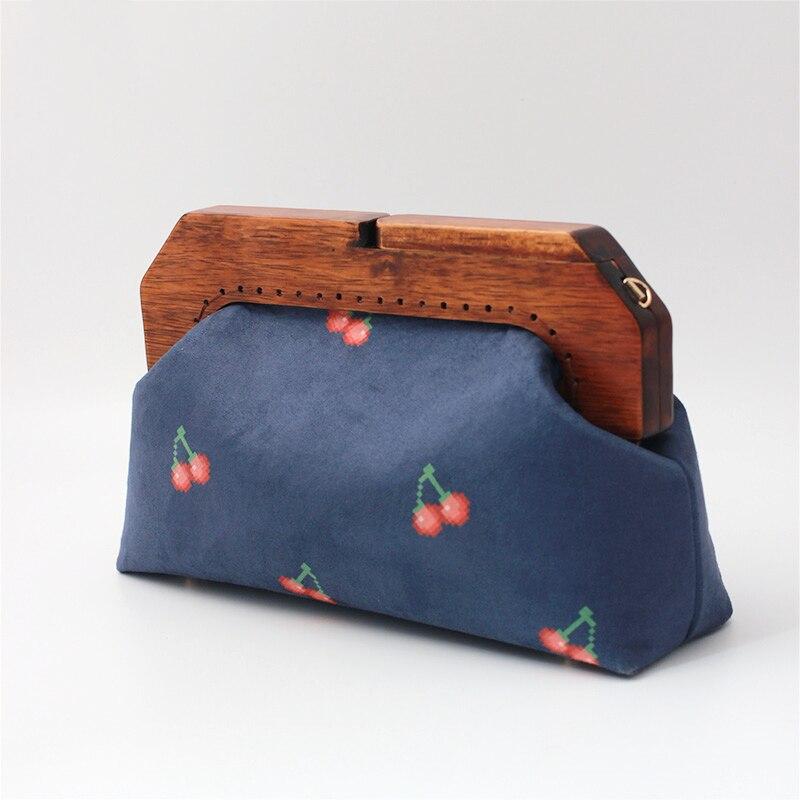 feminina retro costura bolsa saco quadro saco diy acessórios