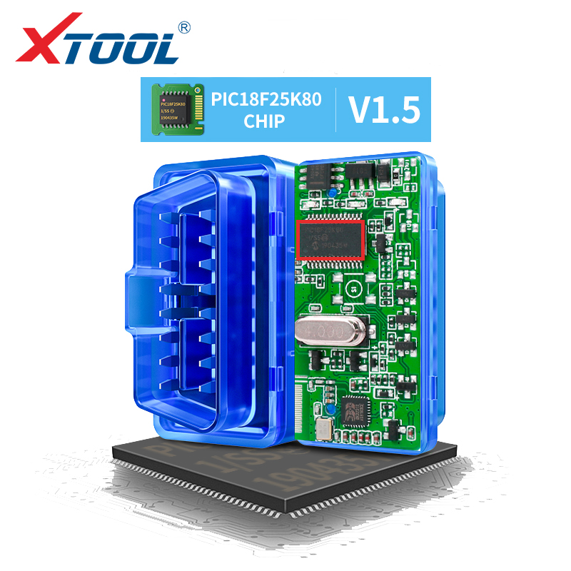 XTOOL ELM327 pic18f25k80 Bluetooth v1 5 super mini elm 327 OBD2 For Android Torque code readers auto scanner tool car diagnostic