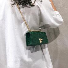 купить Fashion Chain Shoulder Bags Women Casual Stone Pattern Leather Crossbody Bag Women Small Flap Bag Ladies Phone Bags Purse Clutch по цене 846.05 рублей