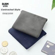 Bubm mini pequena carteira bolsa de mudança moeda dinheiro bolsa chave fones de ouvido saco de armazenamento titular do cartão de crédito caso para meninos meninas