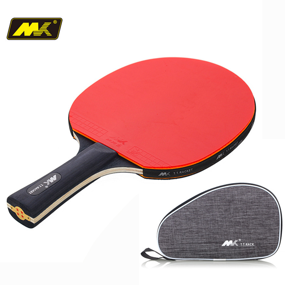 1Pcs Upgraded 4 Star Carbon Table Tennis Racket Set Lightweight Powerful Ping Pong Paddle Bat With Good Control Send Package