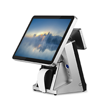 15 inch capacitive touch screen pos all in one VFD 80 MM printer touch screen point of sale