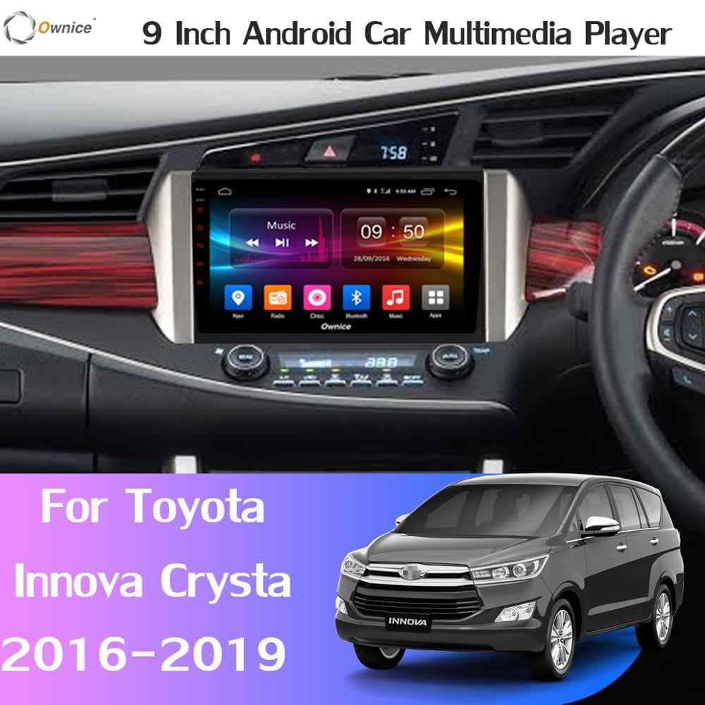 "9 ""IPS + 2.5D 8 Core 4G + 32G Android 9.0 Voiture DVD GPS Radio Pour Toyota Innova Crysta 2015 2016 2017 2018 2019 DSP CarPlay Multimédia"