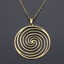 Geometric Spiral Round Stainless Steel Charm Necklace for Women Accept OEM Order Fashion Jewelry Necklaces Dropshipping