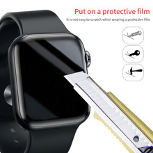 Protector de pantalla película protectora de cobertura completa transparente para iWatch 4 5 40MM 44MM vidrio no templado para Apple Watch 3 2 1 38MM 42MM(China)