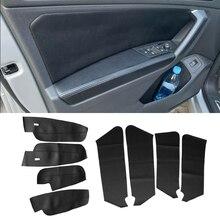 Protective-Trim Interior-Door-Panels Vw Tiguan Microfiber-Leather for 4pcs Guards/door-Armrest-Panel-Cover