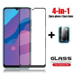 На Алиэкспресс купить стекло для смартфона 4-in-1 glass on honor 9a tempered glass for huawei honor 9s 9c x10 20 8s 9x lite pro camera lens screen protector glass honor 9a
