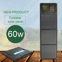 portable solar panels 60w battery DC port 18v dual USB 5v foldable solar panel charger for phone power bank