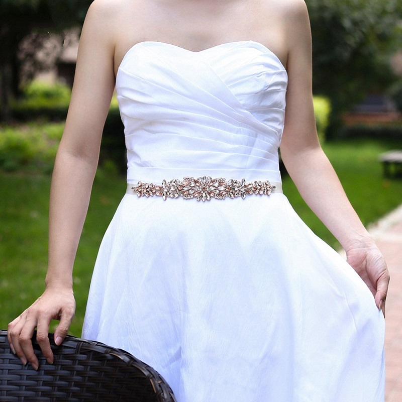 MARIAGE écharpe CEINTURE Pour Robe de mariée Strass Applique Mariage ceintures