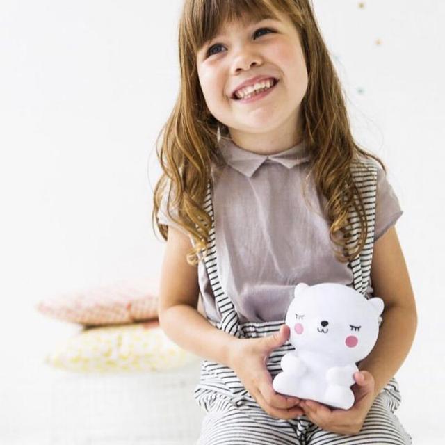 Lámpara de luz Led de noche de oso para bebés, niños, habitación, animales, dibujos animados, cabecera, dormitorio, sala de estar, iluminación decorativa