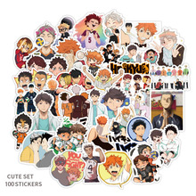 100pcs Haikyuu!!! Volleyball Stickers decal scrapbooking diy pasters home decoration phone laptop waterproof cartoon accessories
