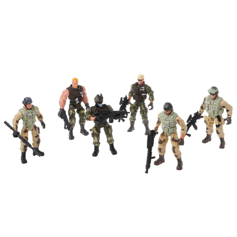 6Pcs/Set Action Figure Army Soldiers Toy With Weapon Military Figures Child Toy  DXAD