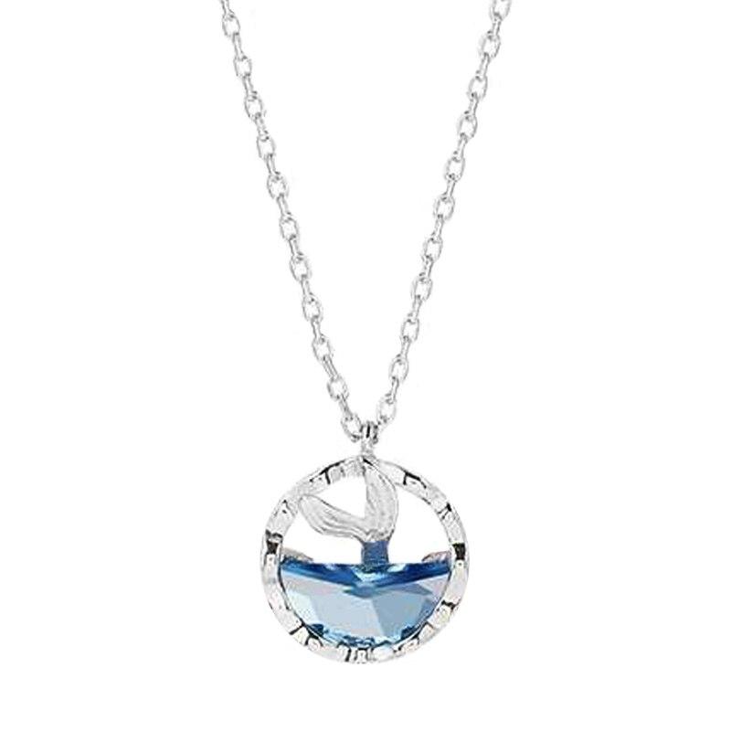 Huitan, романтическая легенда, хвост русалки, голубое море, женское ожерелье с подвеской, Необычные Свадебные обручальные шармы для вечеринки, ...