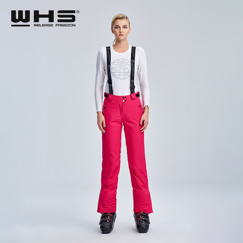 WHS Women's Ski Trousers Female Outdoor Thermal Cotton Trousers Winter Snow Water-proof  Wind-proof And Breathable Sports Hot