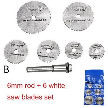 Saw Blade 3.2mm 6MM Rod Metal HSS Circular Saw Blade High Speed Steel Woodworking Cutting Discs Rotary Tool Durable Quality 8 32mm cutting grinding hss high speed steel saw blade w connecting rod silver