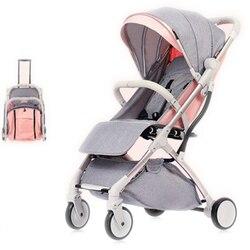Carrinho de bebê dobrável leve 2 em 1 liga de alumínio pode ser no avião crianças carrinho de bebê