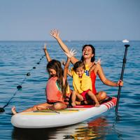 Inflatable Paddle Boards Stand Up 10.5'x30 X6 ISUP Surf Control Non Slip Deck Standing Boat Water Sport Sup Board Red