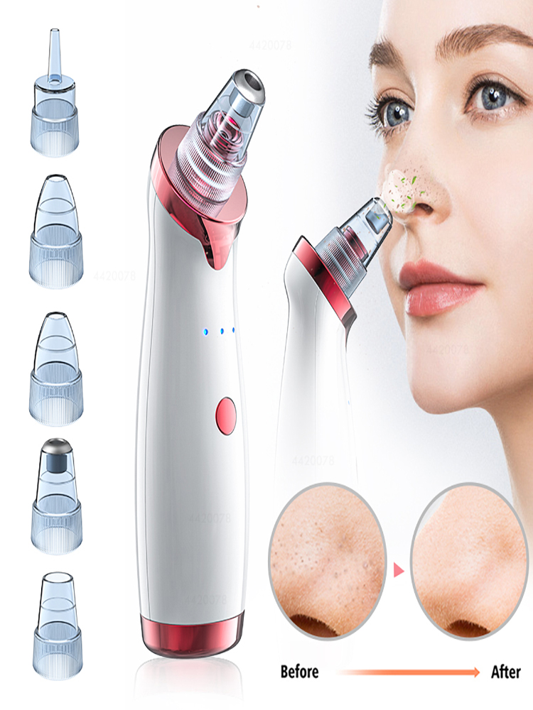 Pore-Cleaner Head-Remover Vacuum-Extractor-Tool Skin-Care Noir Acne Point Black