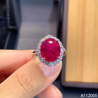 KJJEAXCMY fine jewelry 925 sterling silver inlaid natural adjustable ruby new Female ring noble Support test with box