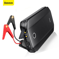 Baseus Car Jump Starter Battery Power Bank High Capacity Starting Device Boosters Auto Vehicle Emergency Battery Booster 8000mA