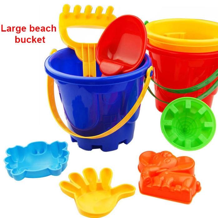 Cubo de juguetes de playa para bebé, rastrillo de palas, casa de juegos para niños, juguetes de arena, juegos al aire libre, regalos de cumpleaños, 7 Uds.