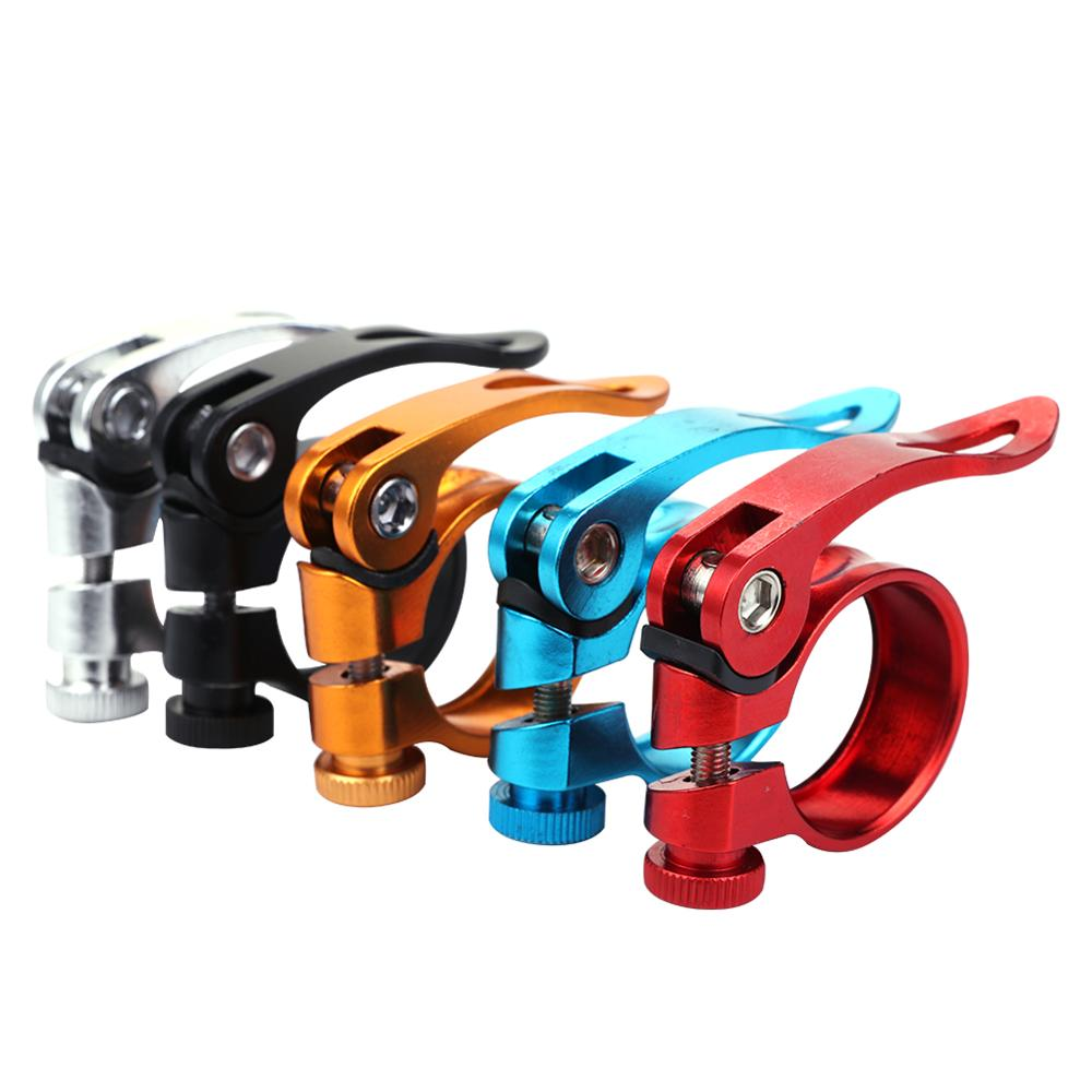 Bicycle Seat Post Clamp Aluminum Alloy Quick Release Bike Seatpost Clamps Clamping Clip Bike Parts 31.8mm 28.6mm 24.9mm