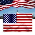 Канва 90x150 см, американский, яркий цвет и устойчивость к УФ-выцветанию, двухслойный Флаг США с латунными прокладками