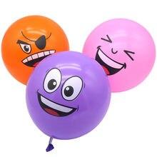 100 pçs 12 Polegada mistura grossa smiley balão festa de aniversário engraçado expressão loja celebração evento decoração balão