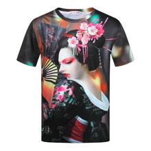 Harajuku 3d danza japonesa señora imprimir camisetas Homme Retro chino Vintage chica camiseta verano Casual Hip Hop Rock Rap tops Tees