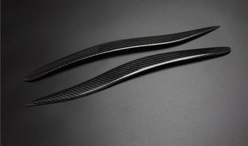 100% リアカーボンファイバーヘッドライト眉まぶたレクサスは IS250 IS300 IS350 フロント眉毛トリムカバーアクセサリー