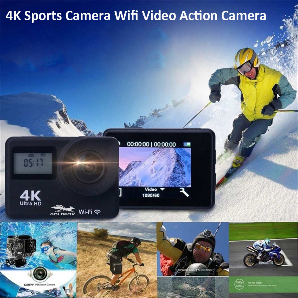 """4K WiFi Action Camera 2.0"""" Touch Screen 12MP 170D Sports Camera 30M Go Waterproof Pro Heltmet Video Recording Camera 4"""