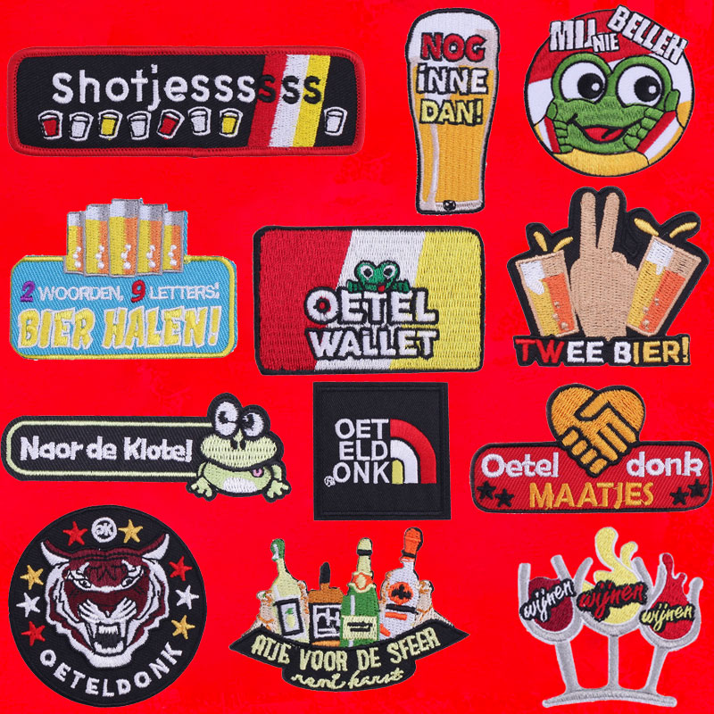 2019 Latest Design Iron On Letter Patches On Clothing Stripes Diy Sewing Patterns Cute Oeteldonk Animal Patch Badges Stickers Embroidery Applique Complete In Specifications
