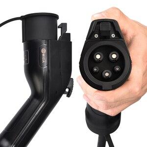 Image 3 - Портативное зарядное устройство для электромобилей уровня 2, тип 1, разъем J1772, 8A, 10A, 13A, 16A, 220 В, зарядная станция для электромобиля