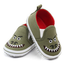 Baby Boy Shoes Casual Canvas First Walkers Cute Cartoon Monster Moccasins Soft Sole Infant Shoes Newborn Footwear Toddler Shoes(China)