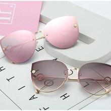ZUCZUG Cat Eye Sunglasses Women Brand Design Metal Frame Mirror Sun Glasses Vint
