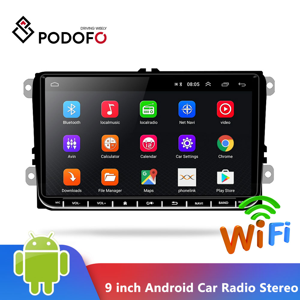 "7/"" 2Din Touch Quad Core Android 8.1 Car Stereo MP5 Player GPS Navi Radio USA New"