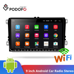 Podofo 9 inch Android 6.0 Car Radio Stereo Touch Screen Car Multimedia Player 2 din Radio GPS Stereo Wifi for VW Passat Golf MK5