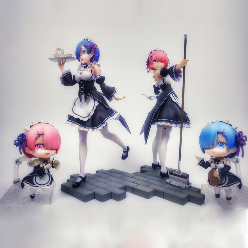 Re: Life a Different World from Zero RAM re zero figure <font><b>Sexy</b></font> <font><b>girls</b></font> Action Figure japanese Anime PVC adult Action Figures toys image