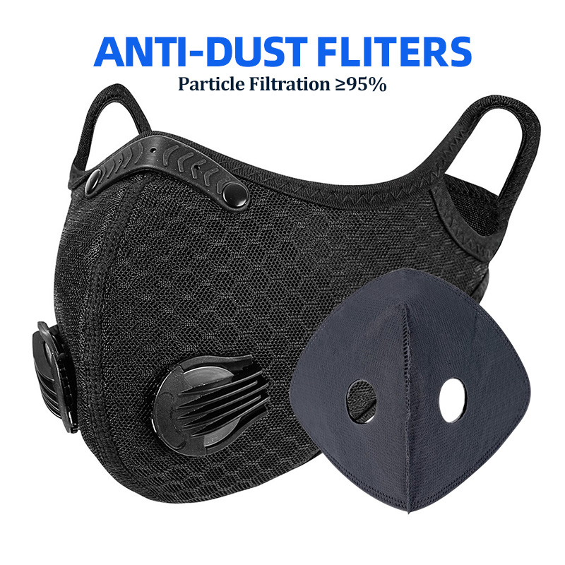 Cycling Face Mask Antiviral Mask With Filter Anti-pollution Breathable Protection Running Sports Bicycle Bike Dust Mask
