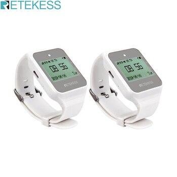 Многоязычный пейджер Retekess TD108, 2 шт., бездисковый приемник для часов, 433 МГц, система вызова, пейджер для ресторана, клиентская поддержка