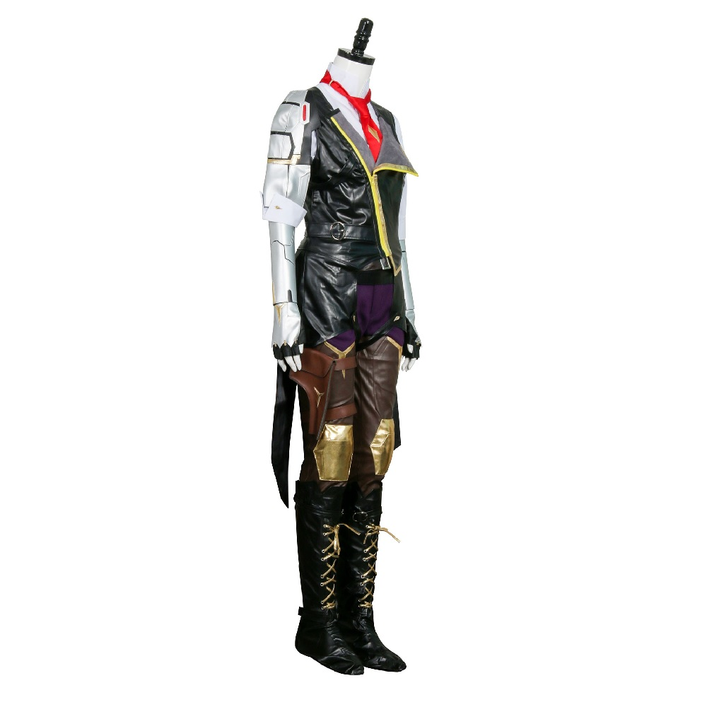 Hero Ashe Cosplay Costumes for Adult Women for Game Overwatch OW Elizabeth Caledonia Ashe Full Suit Halloween Cosplay Set 2