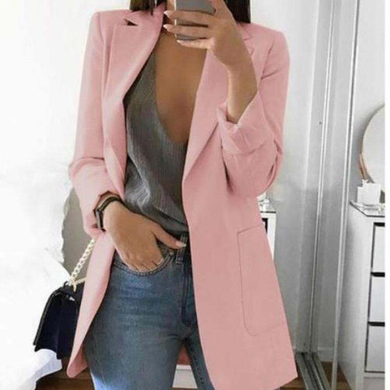 Women Autumn New Suit Jacket Fashion Slim Blazers Female Work Office Lady Suit Pocket Business Blazer Coat Plus Size 5xl