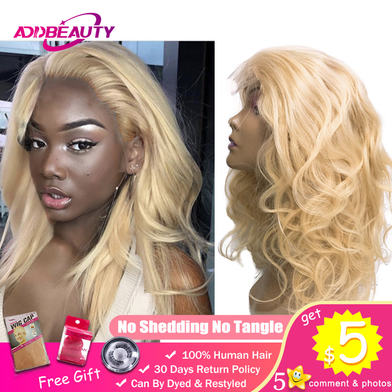Addbeauty 613 Blonde Bundles With 4x4 Lace Closure Wig Body Wave Brazilian Remy Human Hair DIY Custom Made Adjustable 8-26 Inch