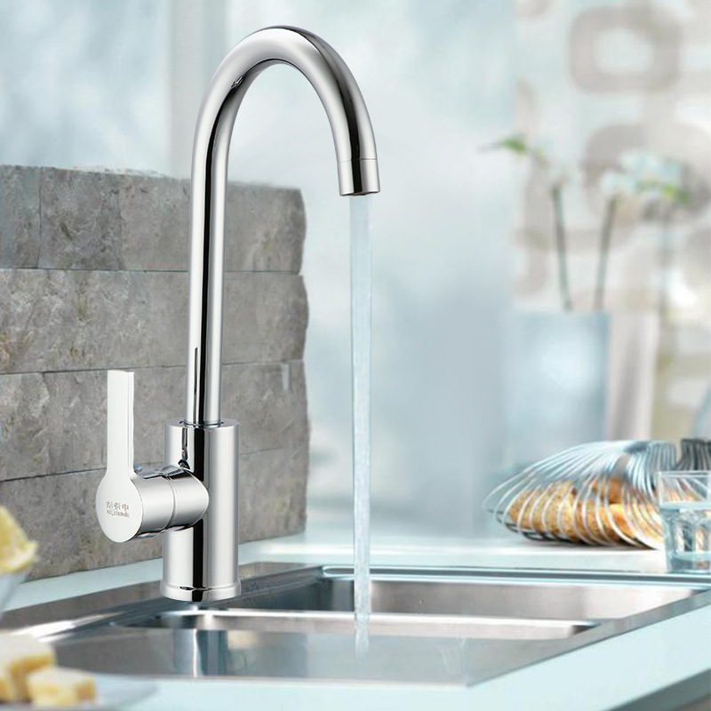 Flat T-connector Cold Kitchen Faucet Copper Alloy Kitchen Faucet Manufacturers Direct Selling