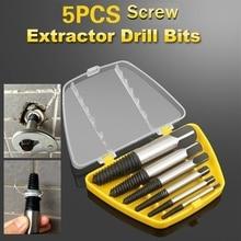 Drill-Bits-Tool-Set Screw Extractor Repair-Tool 5pcs/Lot Material Broken-Bolt-Remover