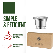 ICafilas Stainless Steel Refillable Coffee Capsule For Nespresso Reusable Pods