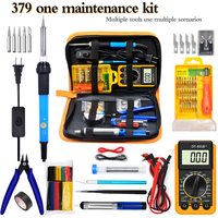 379 pcs/lot 60W thermostat with switch electric soldering iron digital display multimeter household electrician repair welding