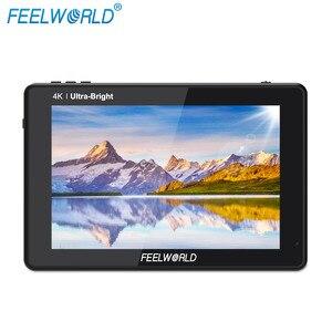 Image 3 - FEELWORLD Monitor de campo para cámara DSLR LUT7S, 7 pulgadas, 3G SDI, 4KHDMI, 2200nits, 3D, LUT, pantalla táctil, forma de onda, para Canon, Nikon, Sony